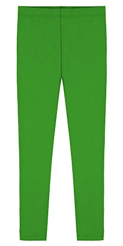 Popular Little Girl's Cotton Ankle Length Leggings - Green - 4T
