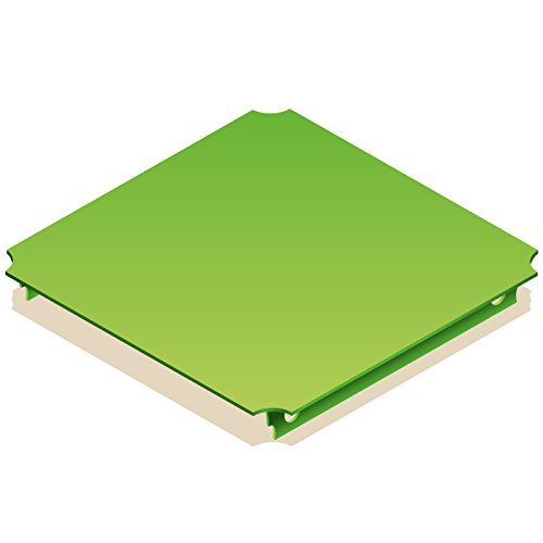 Quadro Platte 40x40 cm grün