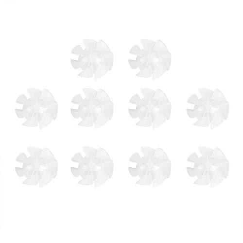 Mini Aspa del Ventilador - Ventilador de Secador de Pelo de Plástico de Pequeña Potencia, Hojas, Accesorios del Motor, 10 Piezas