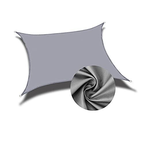 AMSXNOO Vela De Sombra, 98% De Protección UV Impermeable a Prueba De Viento Vela Toldo, RectangularJardim Toldo por Exterior Invernadero Kiosko Jardín Patio (Color : Gray, Size : 4.5X3M)