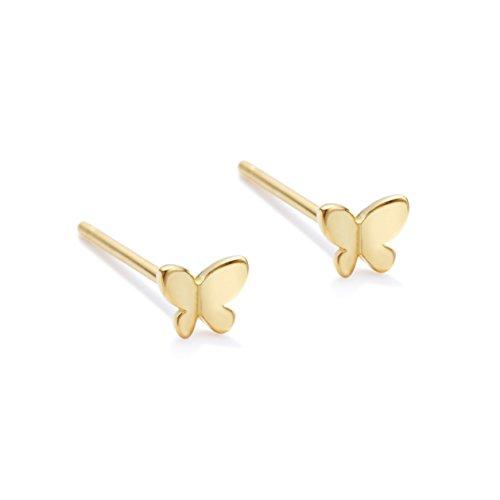 Pendientes de mariposa para mujer, aretes de mariposa minimalistas para mujer, aretes delicados,...