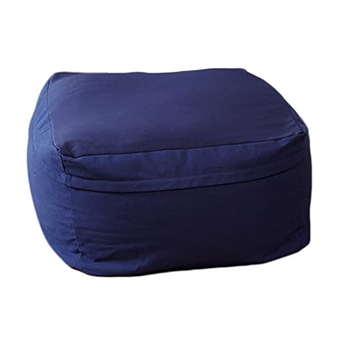LDIW Indoor Seat Bag Cushion Measures Bags Square Bean Bag Chairs Sofa Cover without Filling Plush Toy Clothes Storage Bag Floor Seat Recliner,Blue