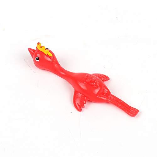 LAMF dehnbare Hühnerspielzeuge, 10 Stück, klebrige Gummi-Schleuder für Kinder, Erwachsene, Büro, Streiche, Ostern, Küken, Halloween, Spiele Weihnachten, JGOSOFF551452616SY