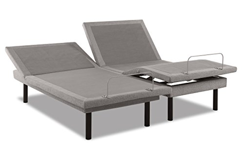 TEMPUR-Ergo Plus-Grey Adjustable Base, Split California King (Purchase 2 to Complete California King Set)
