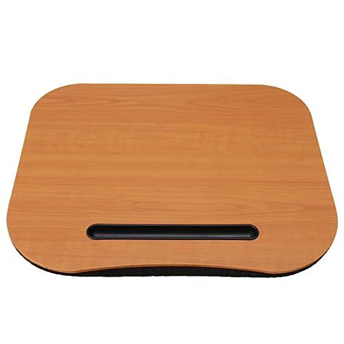 CCXX Soporte portátil para portátil con ranura multifunción, cojín para portátil de hasta 14 pulgadas, bandeja para portátil para cama, color marrón