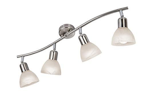 Nino Leuchten GmbH Deckenleuchte, Metall, Silber, L: 62cm