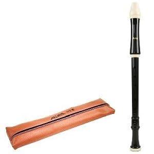 Flauta Aulos Tenor en C, Do plástico 3 piezas311. Digitación Barroca. Color marrón oscuro.