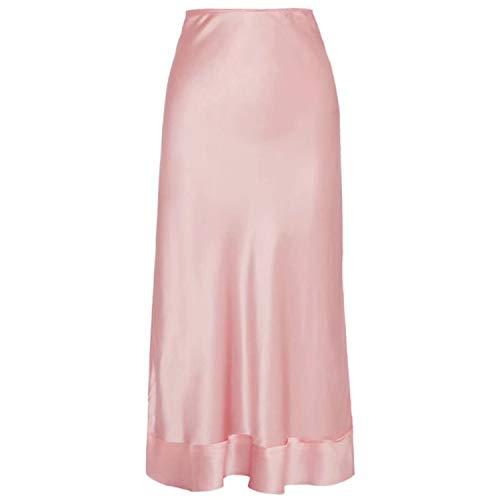 Bluecandy roze rok voor vrouwen hoge taille lange rechte Koreaanse vrouwelijke rokken 2019 grote maat dames Ol stijl