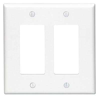 Leviton. 80609-W 2-Gang Decora/GFCI Device Decora Wallplate, White