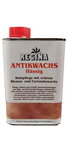 Regina Antikwachs flüssig farblos Dose Naturerzeugnis mit echtem Bienen- und Carnaubawachs (1000 ml)