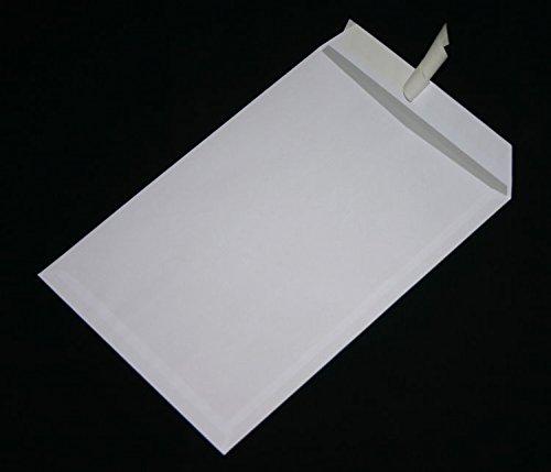 50 Stück Versandtaschen Briefumschläge C4 A4 weiß haftklebend ohne Fenster 229x324 mm HK