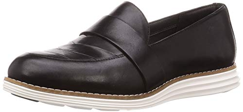 Cole Haan Women's Original Grand Lfr Loafer Flat, Black Leather, 9 B US