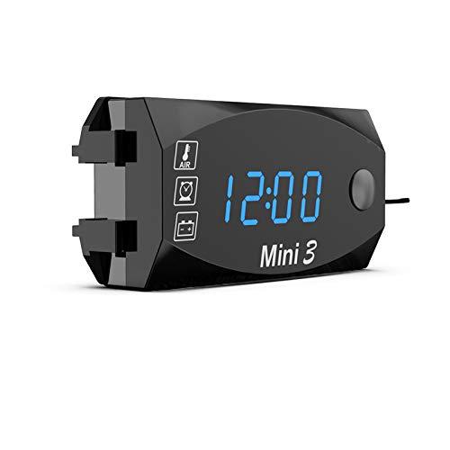 3 in 1 Voltmeter Uhr Thermometer Anzeige, FORNORM 12 V Digital Led-anzeige Meter Gauge Panel Meter Für Auto Motorrad