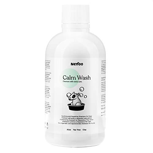 Nenoo Champú Reparador y Relajante para Perro, Calm Wash para la Piel Seca con Picores, con Aloe Vera, Árbol de Té y Caolín (500 ml)