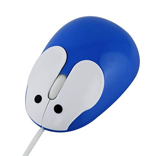 YXDS Ratón Cable USB de Dibujos Animados Lindo Ratón de Ordenador portátil con Cable Regalos creativos para niños Ratón fotoeléctrico de Conejo