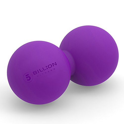5BILLION Peanut Massage Ball - Double Lacrosse Massage Ball & Mobility Ball for Physical Therapy - Deep Tissue Massage Tool for Myofascial Release, Muscle Relaxer, Acupoint Massage (Purple)