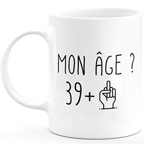 quotedazur Idée Cadeau 40 ans Homme Femme - Cadeau Anniversaire Quarante Ans - Idée Cadeau Original, Humour, Drôle, Rigolo, Fun - Mug Tasse Café Thé Pas Cher