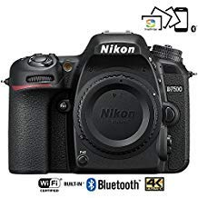 Nikon D7500 20.9MP DX-Format Wi-Fi 4K Digital SLR Camera Body - (Renewed)