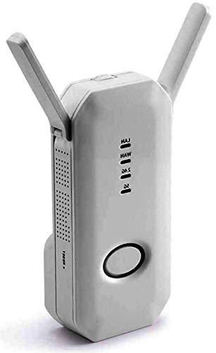 AECEVAN Extensor de Rango WiFi Repetidor Amplificador Amplificador de señal 750M 5.0GHz 2.4GHz Enrutador inalámbrico de Banda Dual Internet de Alta Velocidad Plug and Play Super Boost