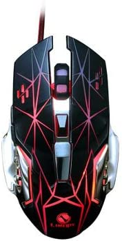 USB Wired Mouse Ergonomic Optical Computer Mouse with LED Light,A JSX Wired RGB Gaming Mouse 4 DPI Settings Up to 3200 DPI