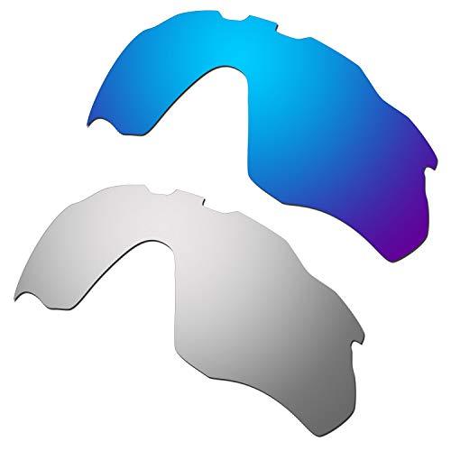HKUCO Reinforce Mens Replacement Lenses for Radar Pace Blue/Titanium Sunglasses