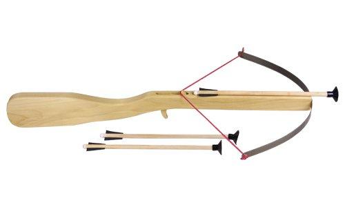 Holzspielerei Kinderarmbrust hist. mit 3 Pfeilen