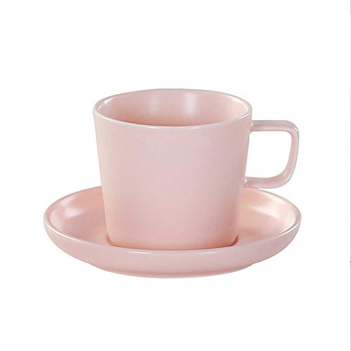 GYZLZZB Tazze da tè caffè e piattino set in ceramica moderna tazze espresso tazze semplicity tazza della colazione può essere utilizzata come bevande cocktail acqua dona alla madre ragazza natale madr