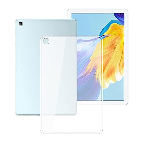 HHUAN Tableta Funda para Lenovo Tab P11 TB-J606F 11.0 Pulgadas, Semi-Transparent Soft Silicone Carcasa Prueba de choques TPU Bumper Cover Case - Semi-Trasparente