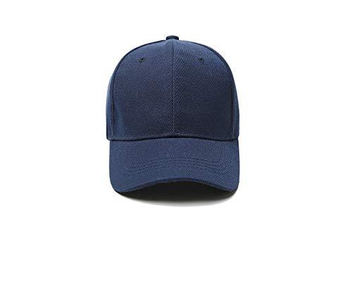 Gorra de béisbol Gorra Casuales Sombreros sólidos Color Puro Gorra Negra Snapback Gorras para Hombres Mujeres-Dark blue-1-11-50 Hats