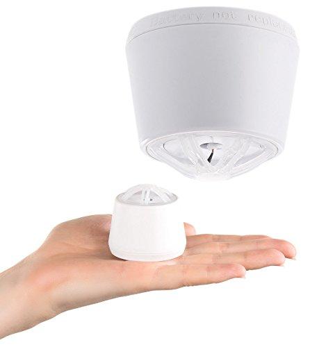 VisorTech Detector de Calor: Mini Dispositivo de Alarma de Calor con batería de 10 años, Alarma de 85 dB (Detector de Calor Garaje)