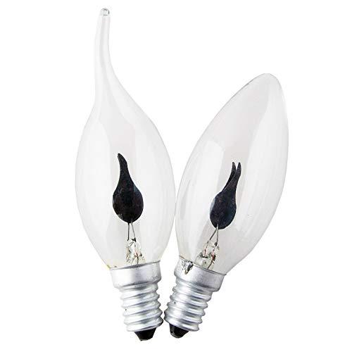 E14 3W Edison Creativo Filamento di Tungsteno Retro Lampadina Fiamma Fiamma HA CONDOTTO LA Lampadina di Illuminazione Retrò Sfarfallio Effetto Filamento di Tungsteno Nuovo Lume di