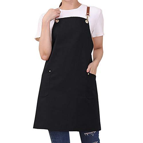 Watwass Schürze Baumwolle Canvas Abwaschbar Frauen Küchen Schürzen für Mädchen Damen Bediener Bäcker Handwerker