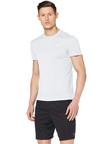 Under Armour UA Streaker 2.0, Camiseta Hombre, Negro (Halo Gray/Halo Gray/Reflective (014)), L