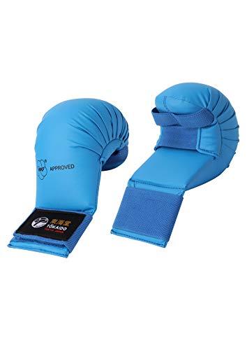 Tokaido Unisex Jugend Junior Kumite Gloves Karate Faustschützer, blau, S