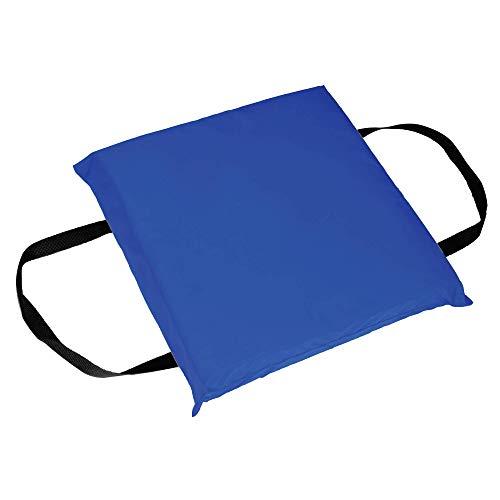 Photo of a blue colored Seachoice Emergency Marine Foam Flotation Cushion