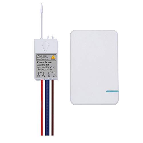 Walmeck AC 180~275V Interruptor inalámbrico Transmisor Interruptor Receptor Controlador Sin cableado Control Remoto Impermeable Iluminación y electrodomésticos para el hogar