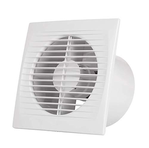 Ventilador Extractor de baño 15W aire 152X97X152H mm Silencioso con válvula anti mosquitera integrada, 180 m3/h,Ideal para baño cocina inodoro oficina