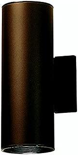 Kichler 9244AZ Outdoor Cylinder Wall Mount Sconce UpLight Downlight, Bronze 2-Light (5