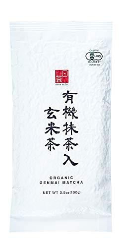 Ocha & Co. Premium Organic Japanese Genmaicha Matcha Roasted Brown Rice Blend Green Tea 100g 3.5oz.