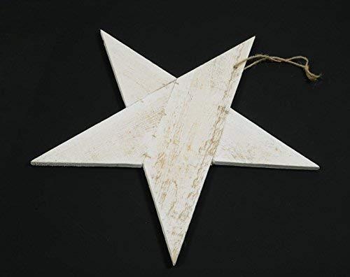 E + N Étoile Noël Décoration Wand-Schmuck Décoration Noël Kerzen-Teller Gesteck-Unterlage Blanc Ancien, Bois, Ø : 40cm, Env. 10 mm Fort