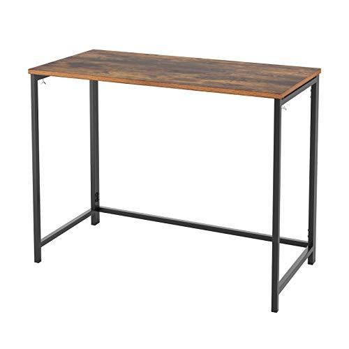 Homfa Mesa Escritorio Plegable Mesa Ordenador para Estudio Despacho Oficina Salón Dormitorio Estilo Industial Vintage 98x75x47.5cm