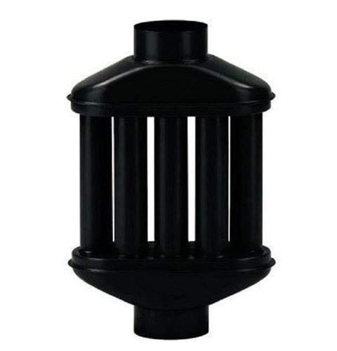Diffusore scambiatore di calore per stufa a legna radiatore per tubi nero smaltato 12 cm diametro