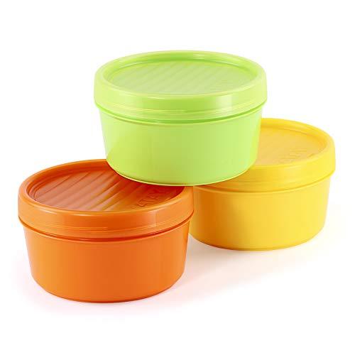 Lote de 3 Contenedores Portafruta en Plástico PP Libre de BPA de...