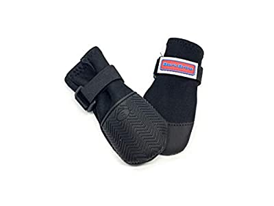 All Weather Neoprene Paw Protector Dog Boots with Reflective Velcro Straps in 5 Sizes!