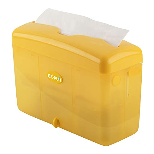 """EZ-PUll 4600Y Countertop Slimfold Paper Dispenser (ONLY for P2F5 Towel), 9"""" x 3.5"""" x 6"""", Yellow"""