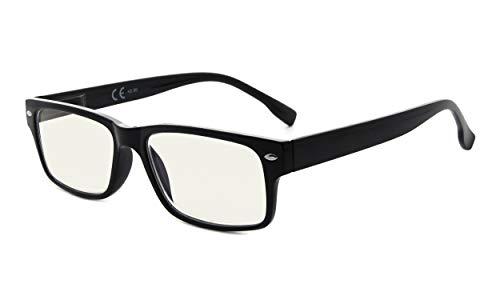 Eyekepper Blaulichtfilter-Lesebrille Damen Herren- UV420-Schutz-Computerbrille - Schwarz +0.50
