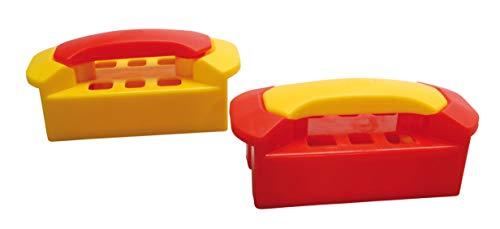 Gowi 558-76 Design Ziegelpresse, farblich Sortiert, einzeln, Sandkästen und Sandspielzeuge