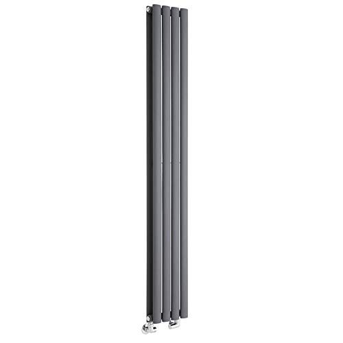 Milano Radiador de Diseño Revive Vertical - Antracita - 819W - 1600 x 236mm