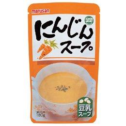 マルサンアイ 豆乳にんじんスープ(レトルト) 180g×3個        JAN: 4901033690663