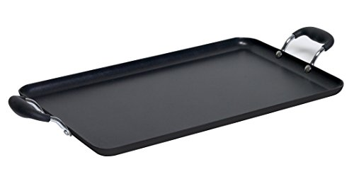 IMUSA USA, Black Soft Touch Double Burner/Griddle, 20'...
